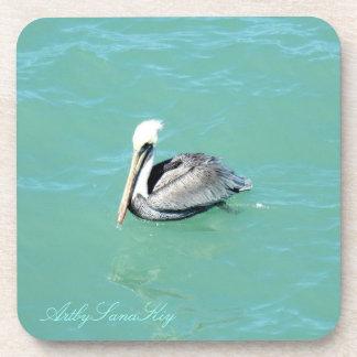 Pelícano. Práctico de costa del corcho Posavasos