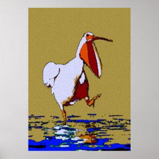 Pelícano que marcha cómico Luisiana Poster
