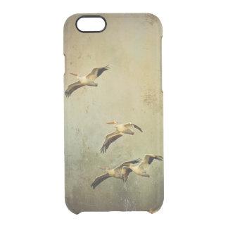 Pelícanos blancos en vuelo funda clearly™ deflector para iPhone 6 de uncommon