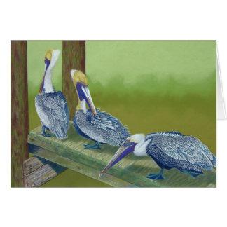 Pelícanos de Brown Tarjeta Pequeña