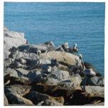 Pelícanos en las rocas servilleta