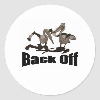 Pelicans Back Off Classic Round Sticker