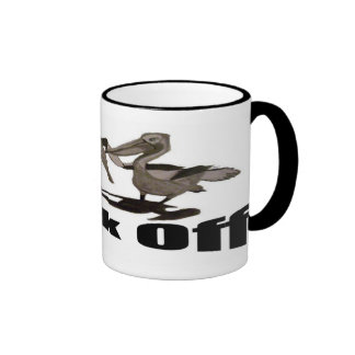 Pelicans Back Off Ringer Coffee Mug