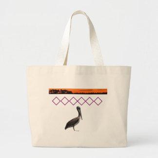 Pelicans, birds, birds, are, to water, salt jumbo tote bag