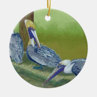 Pelicans Ceramic Ornament
