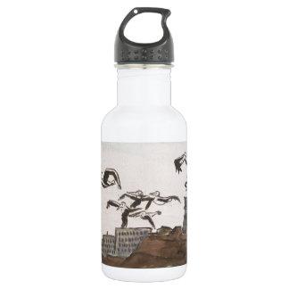 Pelicans Escaping The Rock, Alcatraz Isle San Fran Water Bottle