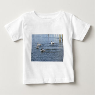 Pelicans Floating in the water in Florida Tshirts