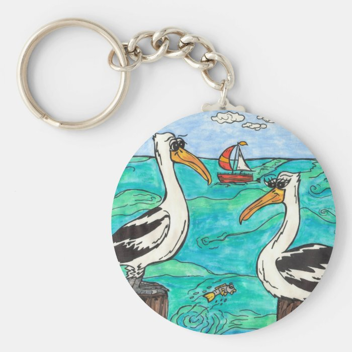 Pelicans Key Chain