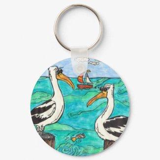 Pelicans keychain