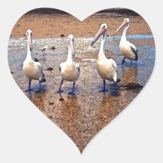 Pelicans On Duty, Heart Sticker