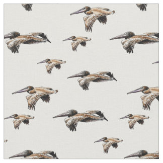 pelicans on fabric by the yard