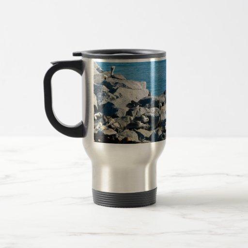 Pelicans on the Rocks Mug