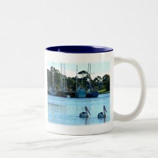 Pelicans pals Two-Tone coffee mug