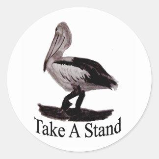 Pelicans Take A Stand Classic Round Sticker