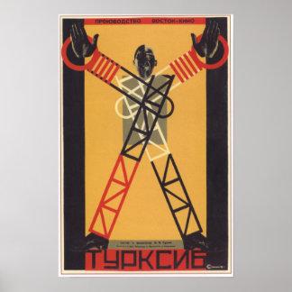 Película 1929 de URSS Unión Soviética Turksib Poster