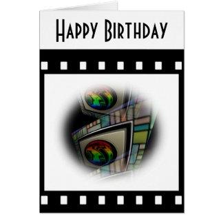 Película abstracta tarjeta de felicitación