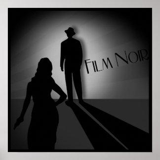 película clásica del vintage noir póster