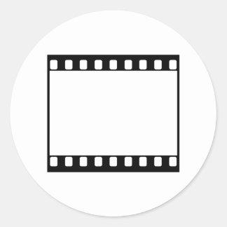 película de 35m m pegatina redonda