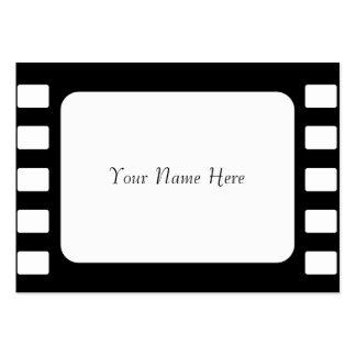 película de 35m m, su nombre aquí tarjetas de visita grandes