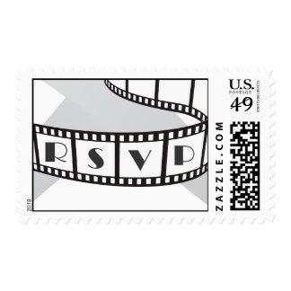 Película de cine RSVP de Hollywood Sellos