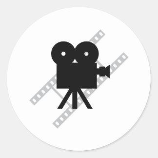 película de la cámara de la cinematografía de la etiqueta redonda