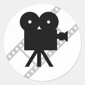 película de la cámara de la cinematografía de la etiquetas redondas