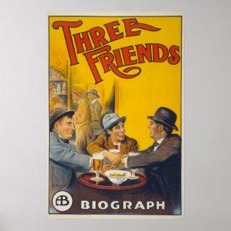 Película de los amigos de los estudios tres de póster