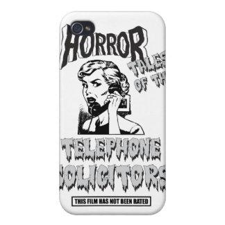 Película de terror divertida del vintage iPhone 4/4S carcasas