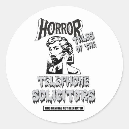Película de terror divertida del vintage pegatina redonda