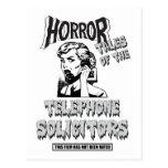 Película de terror divertida del vintage postal