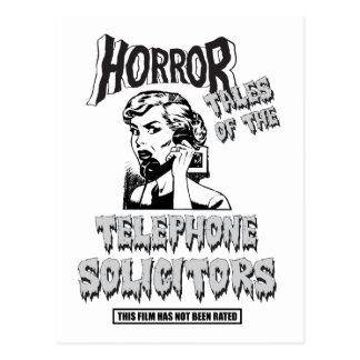 Película de terror divertida del vintage tarjetas postales