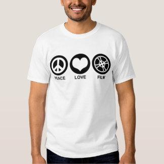 Película del amor de la paz playeras