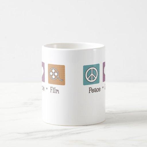 Película del amor de la paz taza de café