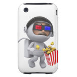 película del astronauta 3d (cualquier color U tien iPhone 3 Tough Carcasa