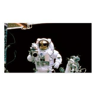 Película del astronauta tarjeta de visita