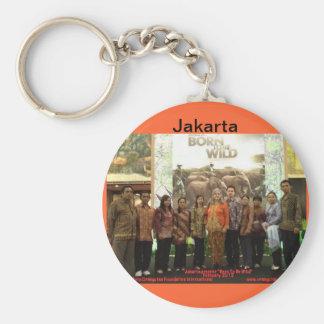 Película del orangután en Jakarta Llavero Redondo Tipo Pin