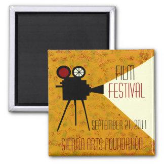 Película, festival, artes, personalizar del logoti imán cuadrado