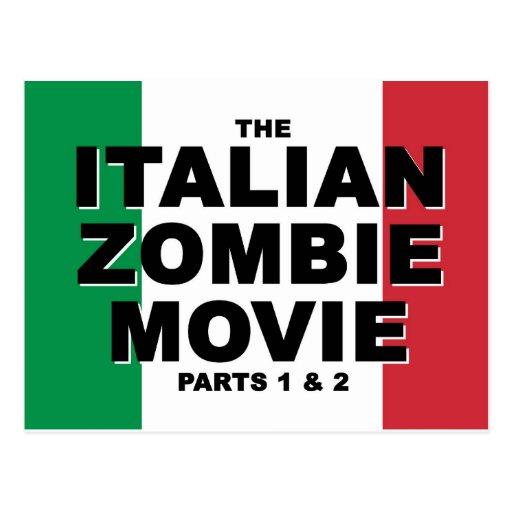 Película italiana del zombi - postal