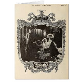 Película muda 1918 de la escena del vintage de Mae Felicitaciones