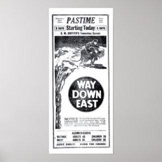 Película muda 1922 de Lillian Gish Richard Barthel Póster