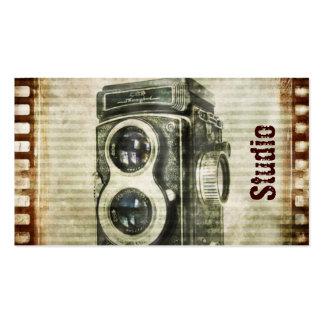 Película retra de las cámaras del Grunge del vinta Tarjetas De Visita