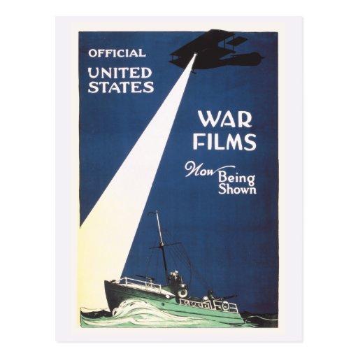 Películas de guerra de los E.E.U.U. del vintage Postales
