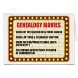 Películas de la genealogía tarjeta