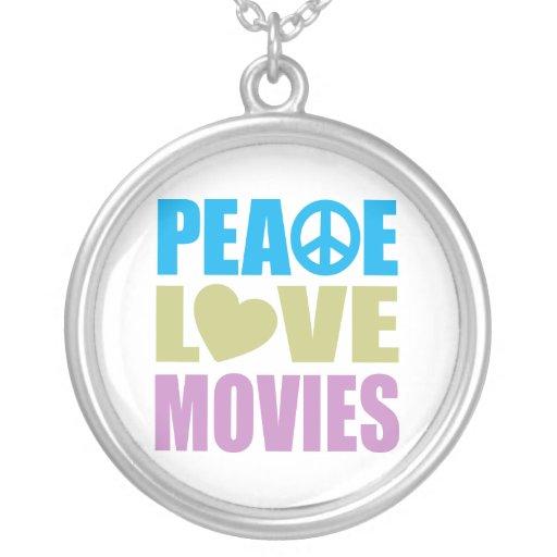 Películas del amor de la paz colgante redondo