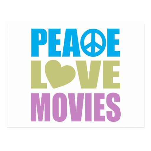 Películas del amor de la paz postal