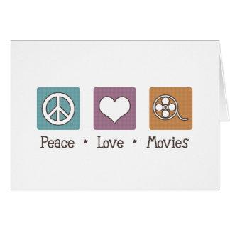 Películas del amor de la paz tarjeta de felicitación