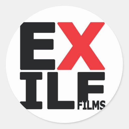Películas del exilio pegatina redonda