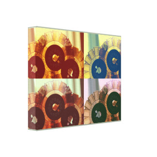 Películas en lona envuelta premio vivo del color lona estirada galerias