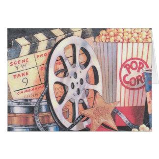 Películas, palomitas, película tarjeta de felicitación