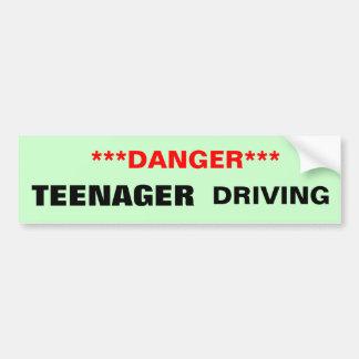Peligro: Adolescente que conduce a la pegatina Pegatina Para Auto